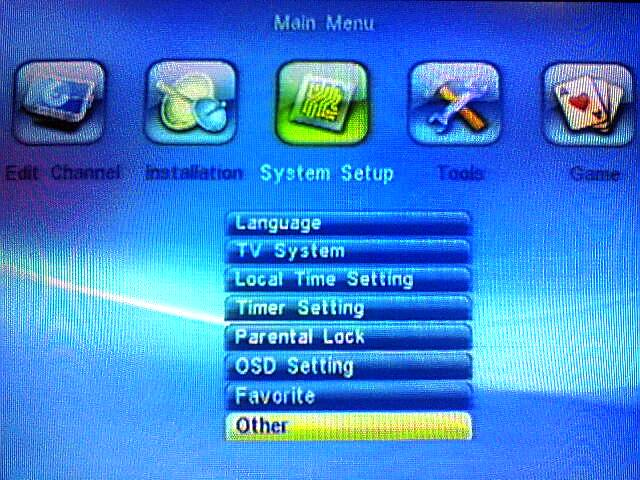 technosat t-888 main menu