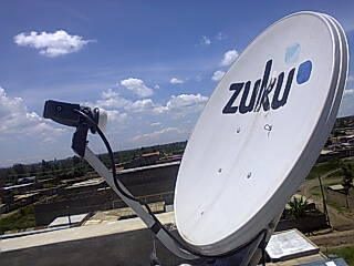 zuku satellite dish usually faces the west