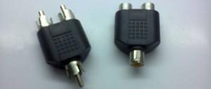 Male and female RCA splitters