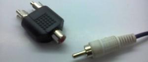 Female to male RCA splitter 2 ports