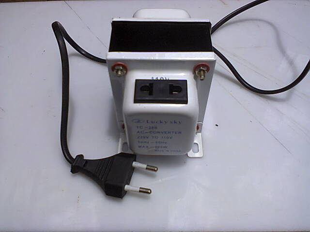 The LUCKY SKY TC-200 transformer 240Volts to 110Volts Stepdown Transformer