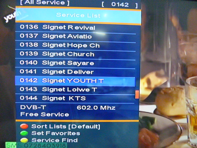 full list of all digital tv frequencies in Nairobi Kenya