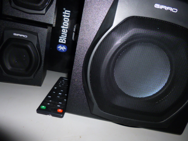 The Girro 201 bluetooth subwoofer with remote control
