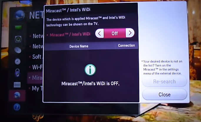 Miracast – Easily mirror smartphone to Smart TV
