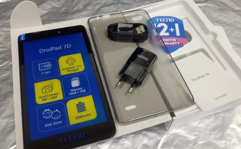 The Tecno DroidPad 7D Unboxing And First Impressions