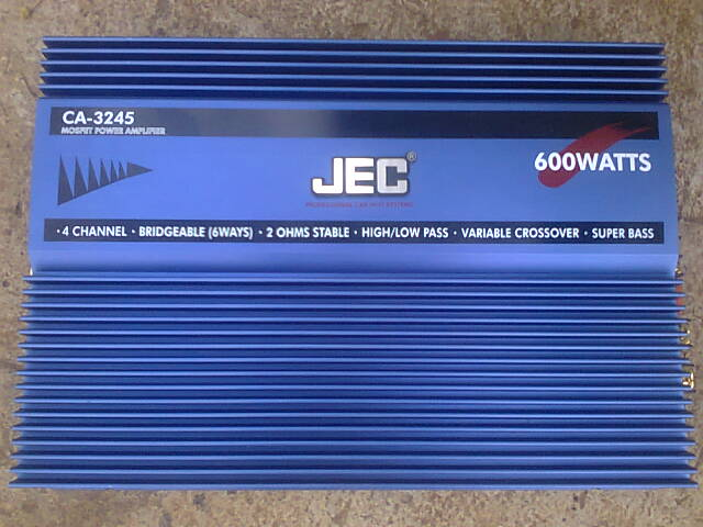The JEC 3245 High Power Bridgeable 4 channel car audio amplifier