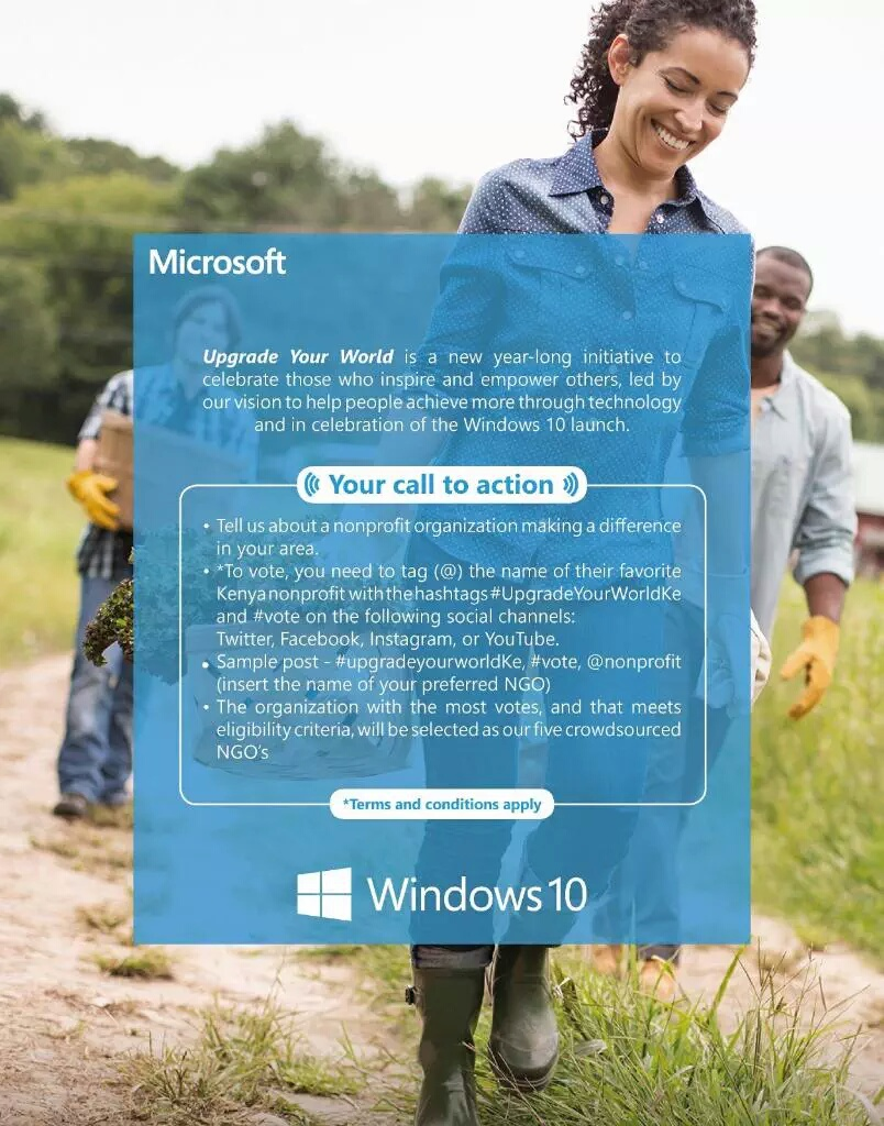 Windows 10 Upgrade Your World Initiative