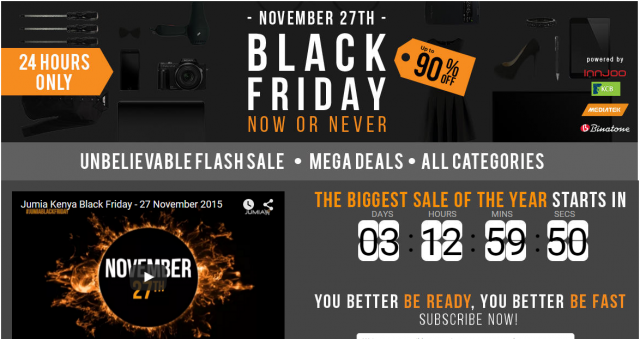 A sneak peek into Jumia Kenya Black Friday Deals