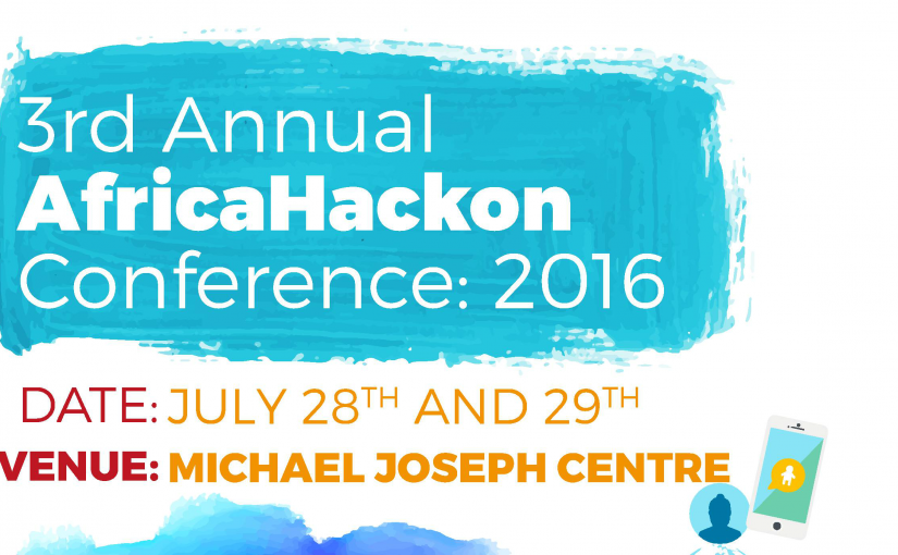 Welcome To The 3rd Annual AfricaHackon Conference 2016
