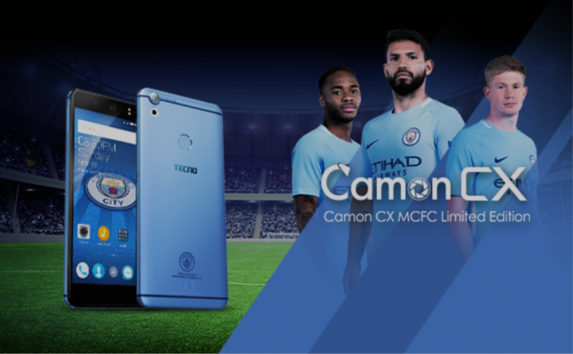 TECNO Mobile Unveils Camon CX Manchester City Limited Edition Smartphone