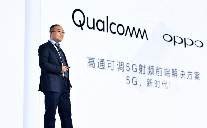 Alen Wu, the Vice President of OPPO, addressed the keynote speech on 'the adjustable 5G RF front-end solution' at the 2018 Qualcomm Technology Day