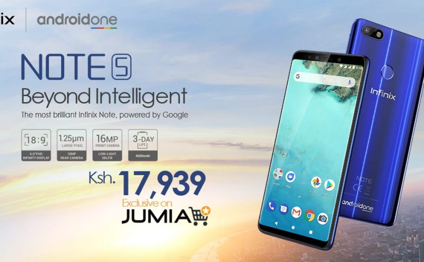 Infinix Note 5 Powered by Android One Unveiled In Dubai