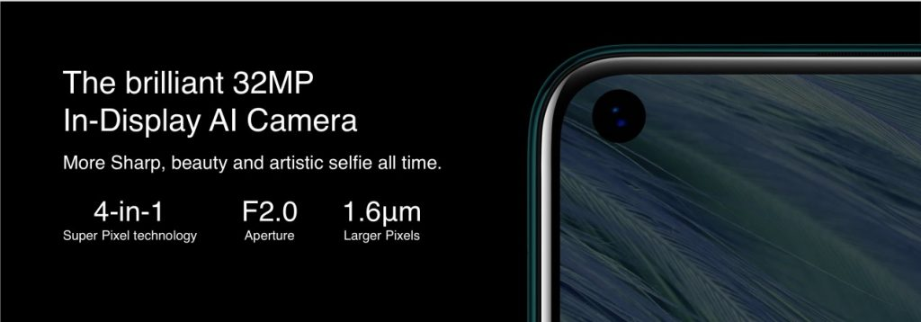 The Infinix S5 has a 32MP front punch in hole camera