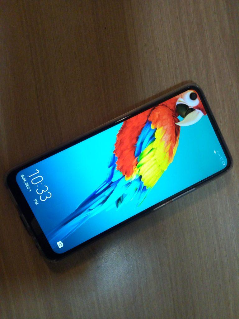 Dot in screen display on the Tecno Camon 12 Air smartphone