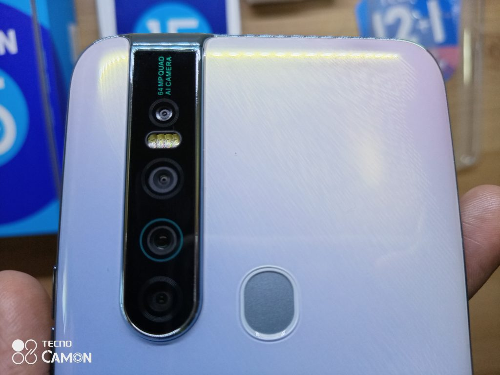 Rear side of the Tecno Camon 15 Premier