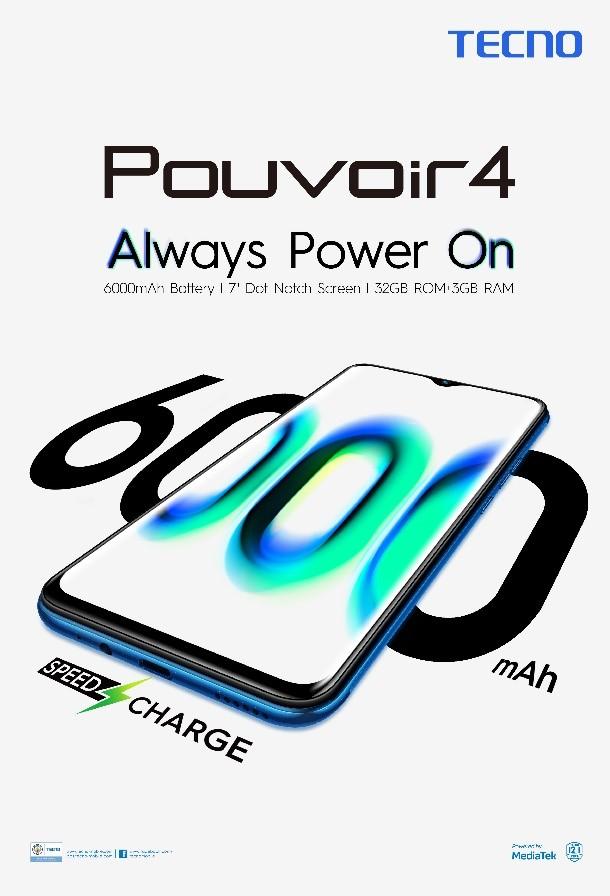TECNO Mobile unveils the Pouvoir 4 in Kenya
