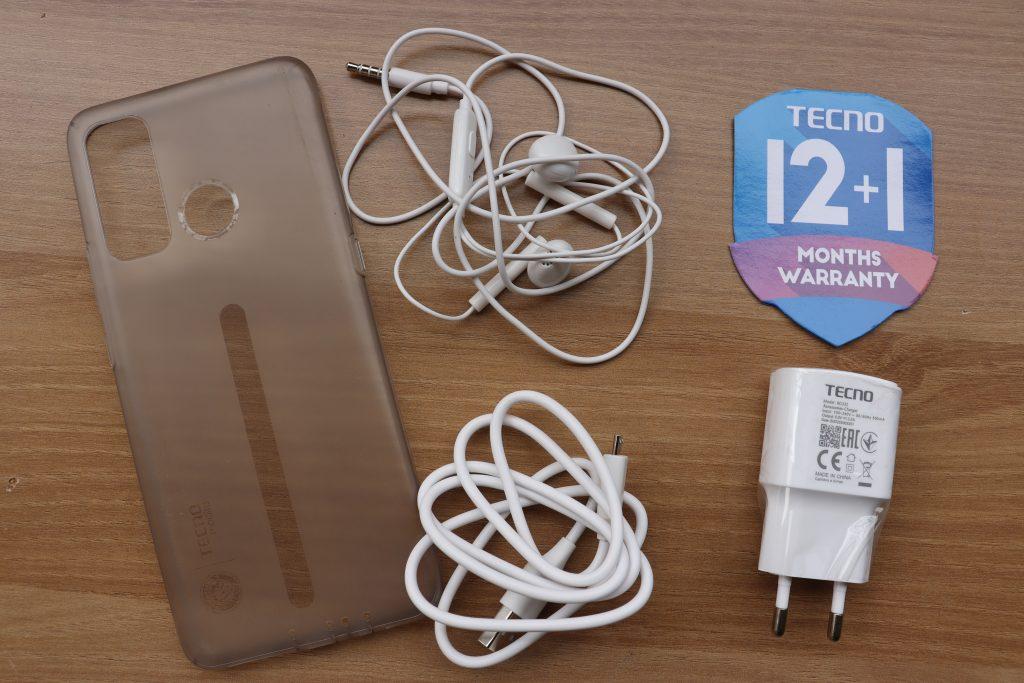 The Tecno Pouvoir 4 free accessories