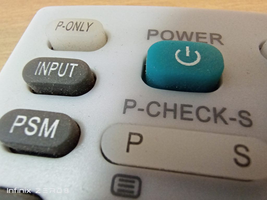 Close up remote control shot