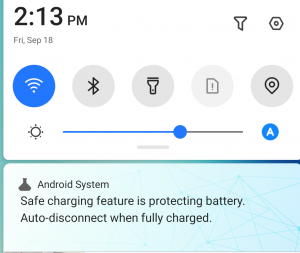 Safe charging feature on Tecno Camon 16 Premier