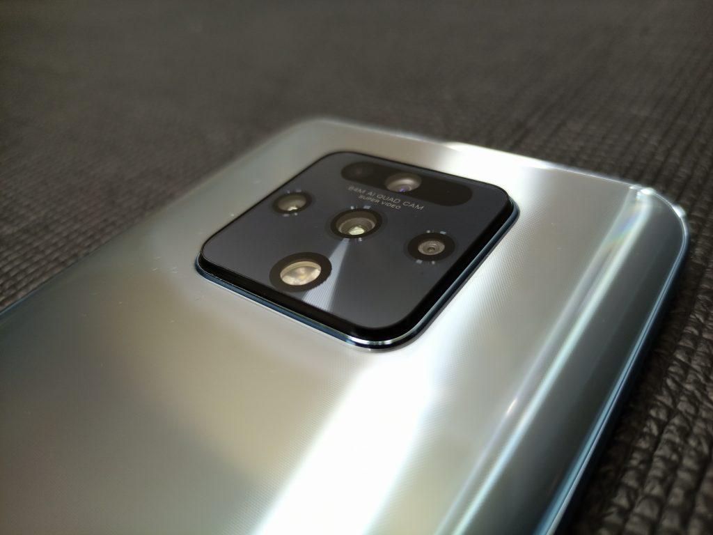 Quad camera setup on the back of the Tecno Camon 16 Premier