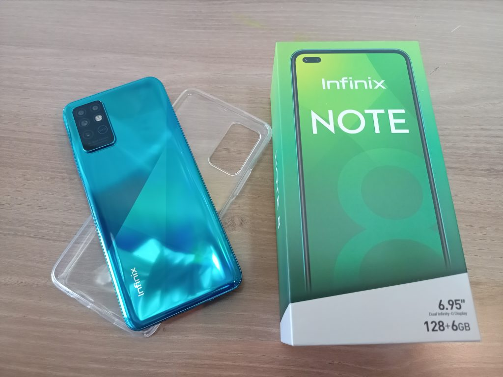 Infinix Note 8 deep sea luster colour