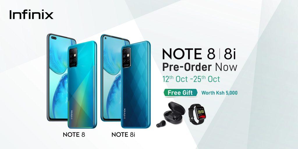Infinix Note 8 Pre order details