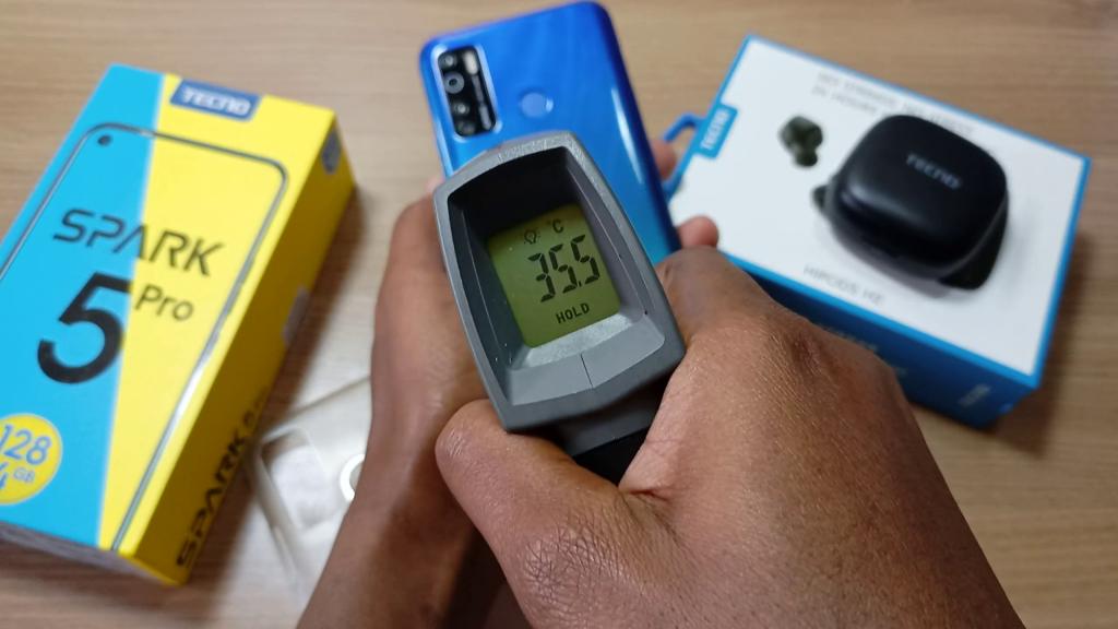 Tecno Spark 5 Pro Temperature check after gaming
