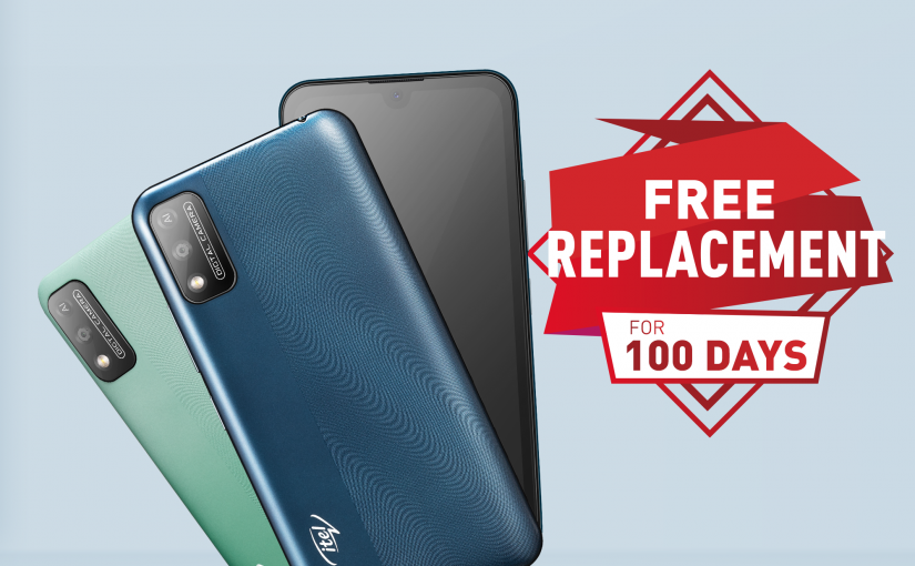 Enjoy 100 Days Free Screen Replacement With The itel A37